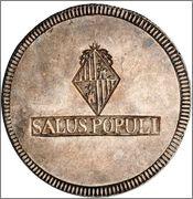 30 SOUS 1821 FERNANDO VII  MALLORCA- FIBRE AMARILLA - Image