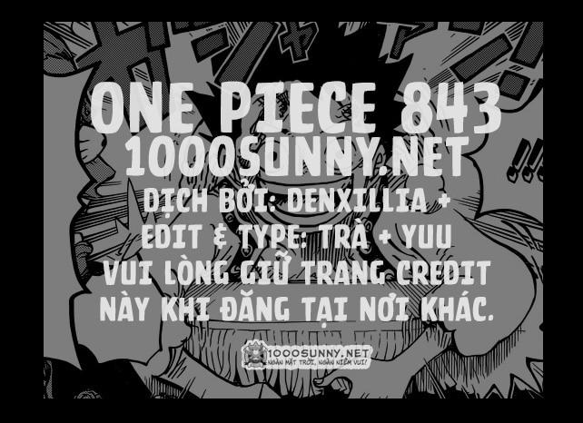 One Piece Chapter 843: Vinsmoke Sanji Credit