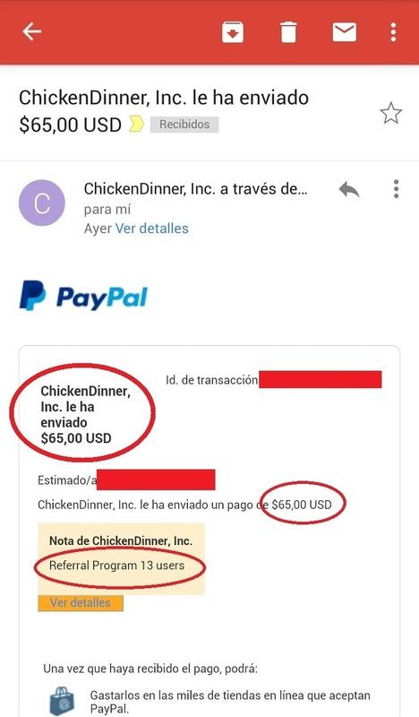 ChickenDinner Gana $5 Usd Gratis a tu Paypal! - $500 Usd para apostar cada dia! - Tutorial - Screenshot_2016_09_28_10_29_34
