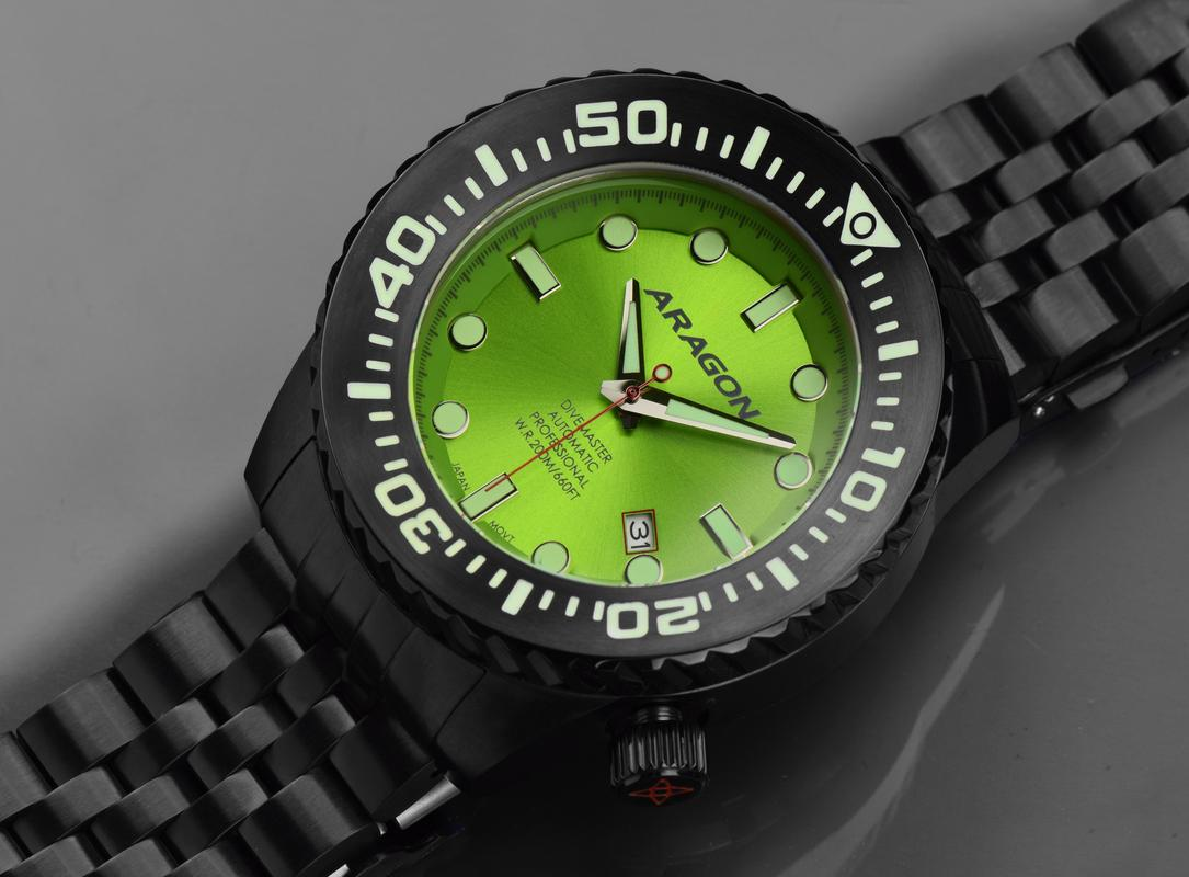 Aragon Divemaster EVO Automatic in 45mm IP black. A253_LIM