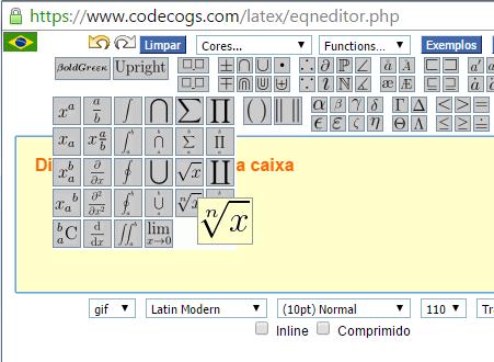 Usando o Latex do CODECOGS (Principal) - Página 2 Im1