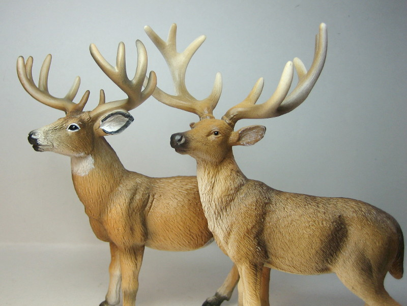 The new white tailed deer, and some comparisons to his retired brother. IMG_7335_zpsa3d3540a