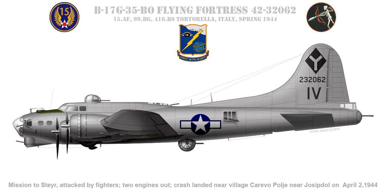 Do Božića B-17G, Academy, 1/72 B-17_G-35-_BO_42-32062