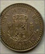 5 Pesetas 1885 CARLOS VII ( PRETENDIENTE )  Image