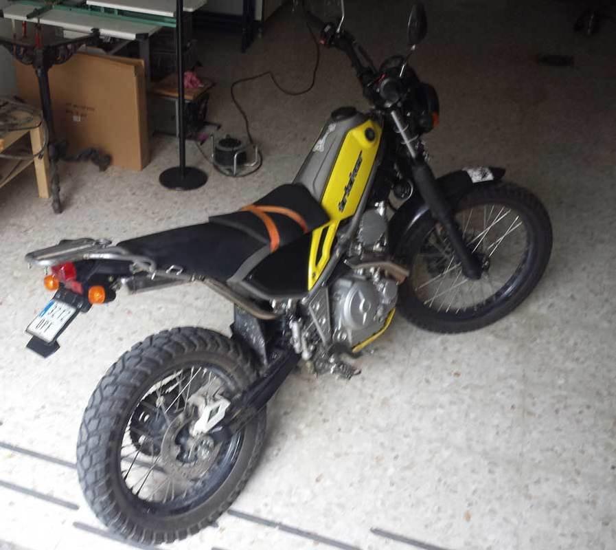 Sale la fierecilla que lleva la Tricker dentro Moto3