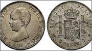 5 Pesetas Alfonso XIII 1890 (*18-90).  - MPM. Image