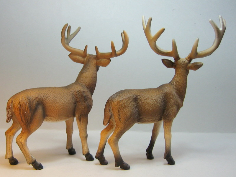 The new white tailed deer, and some comparisons to his retired brother. IMG_7338_zps3d5c3972
