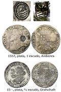 Escudo Felipe Amberes 1573 resello Holanda Resello_Zelanda