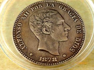 Moneda de 10 Centimos Alfonso XII 1878  10_CENT_1878_ANVERSO