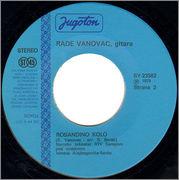 Rade Vanovac 1979 - Sretenovo kolo (Singl) STRANA_2