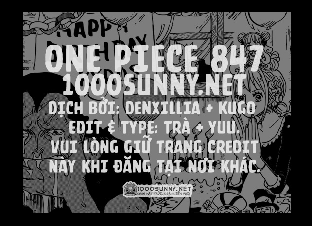 One Piece Chapter 847: Luffy và Big Mom Credit