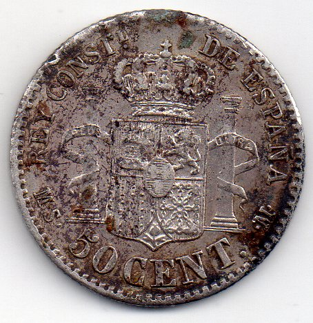 50 Céntimos 1885. Alfonso XII. Opinión Img912
