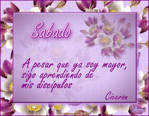 Florido con Frase SABADO