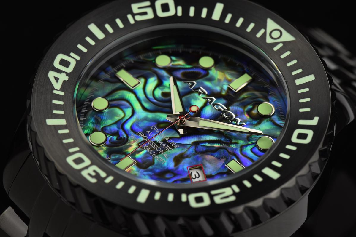Aragon Divemaster EVO Automatic in 45mm IP black. A253_ABA-6