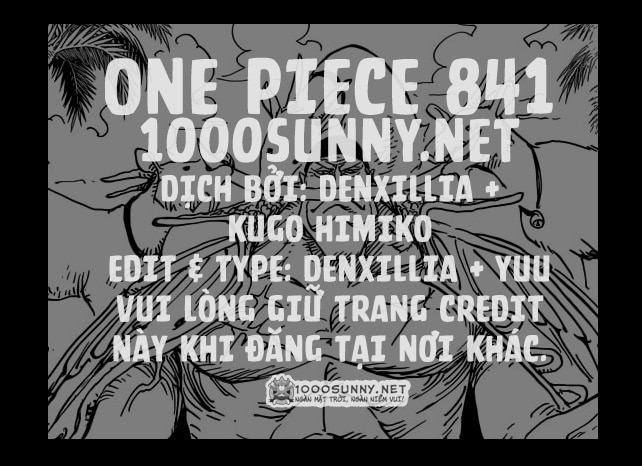 One Piece Chapter 841: Tiến về biển Đông. Credit