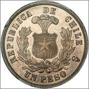 1 PESO CHILE 1890 Image