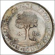 8 Reales. Centro America. 1836. Guatemala Image