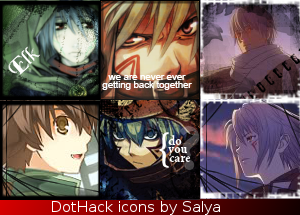 Here's a few of my lates graphics.. Dothack_Mix