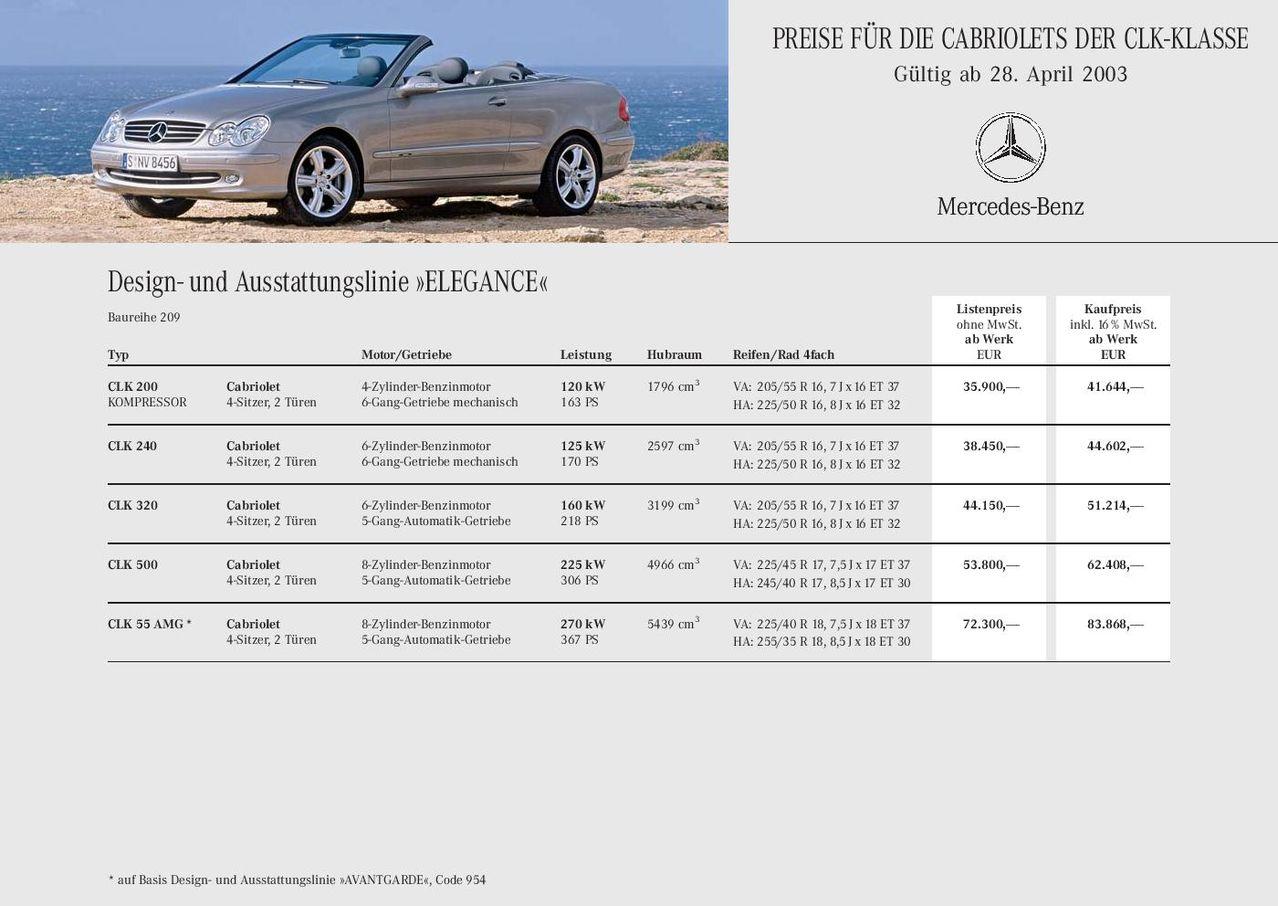 Catálogo A209 Cabriolet 2004 (alemão) PB_CLK209_Cabrio_page_001