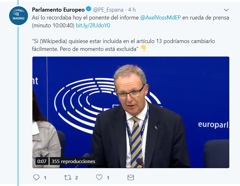 El Parlamento Europeo rechaza la directiva europea de copyright con un margen de 40 votos en contra Screenshot_2018_07_04_at_20_45_19