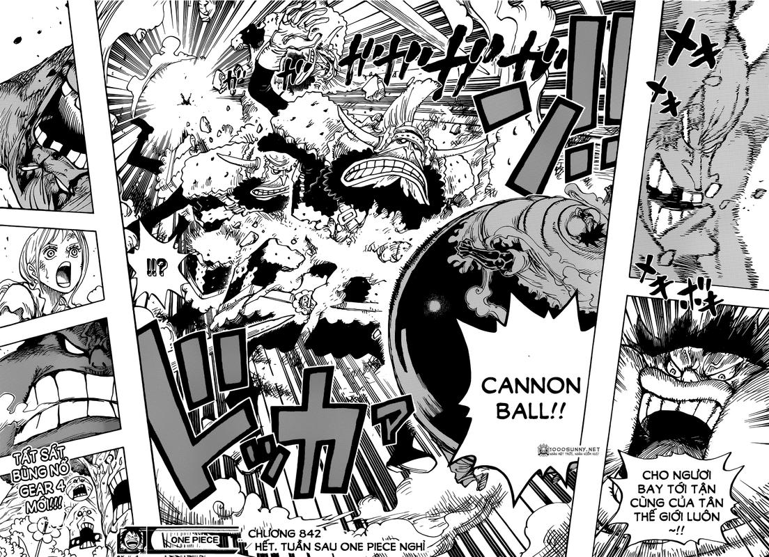 One Piece Chapter 842: Sức mạnh của cái dạ dày đã no! 14_15