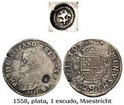 Escudo Felipe Amberes 1573 resello Holanda Resello_Holanda_1