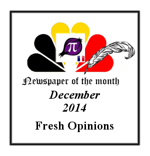 Newspaper of the Month/Year archive. Badge_newspaper_of_the_month_December_2014