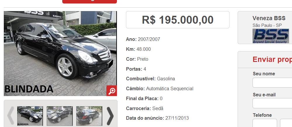 W251 R63 AMG 2007 - R$ 175.000,00  Screenshot_149