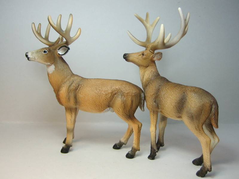 The new white tailed deer, and some comparisons to his retired brother. IMG_7336_zpsa0ea2476