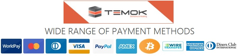 Starting at $171/Mo TEMOK Offers Russian Dedicated Servers With 24/7 Technical Support PAYMENT-METHOD-NEW
