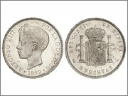 5 Ptas 1899 Alfonso XIII la moneda perfeccta Image