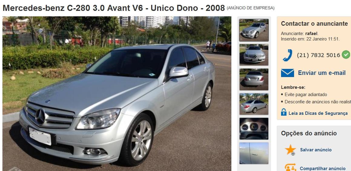 W204 C280 2008 - R$69.900,00  Screenshot_341