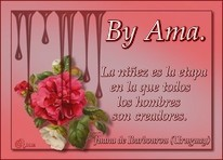 Caen Gotas Sobre las Flores con Frase  Image