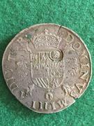 Escudo Felipe Amberes 1573 resello Holanda Escudo_felipe_Felipe_II_1573_Amberes_resello_Holanda_reverso_1