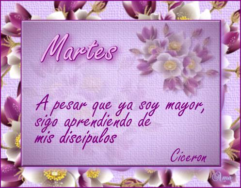 Florido con Frase MARTES