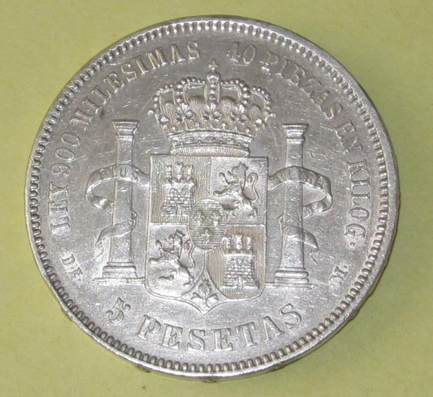 Duros de Plata de Alfonso XII 1875b