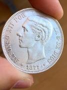 5 Pesetas 1877. Alfonso XII  IMG_3684