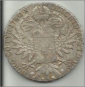 1 Thaler de Maria Teresa. Austria. 1780. Reacuñación.  1talher_1780_rev