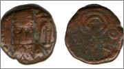 Dracma de bronce de Phraates de Elymais Smg_263