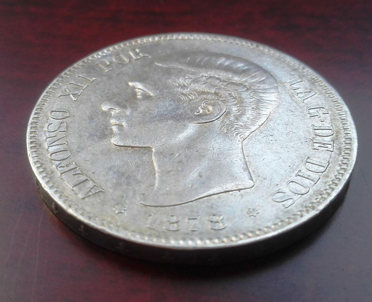 5 pesetas 1878 EM M, Alfonso XII 5_pesetas_1878_EMM_2
