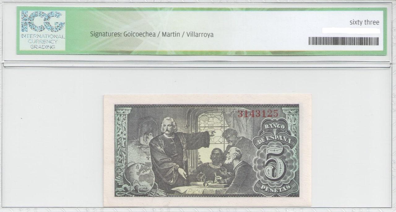 Colección de billetes españoles, sin serie o serie A de Sefcor Cat_lica_reverso
