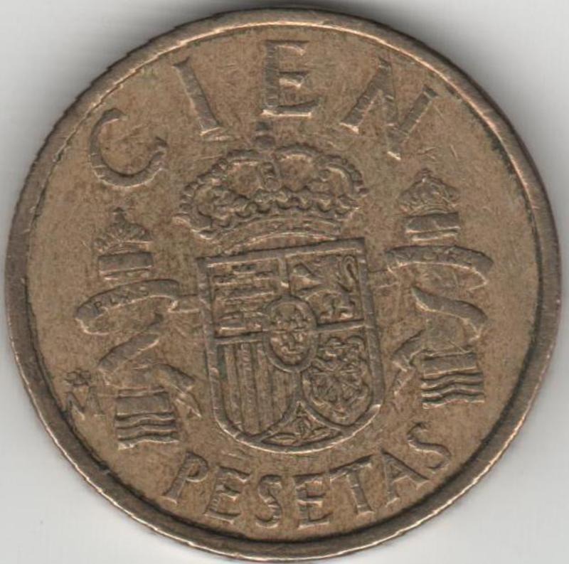 100 PESETAS 1984. Juan Carlos I - lis arriba. Reverso_100_pesetas