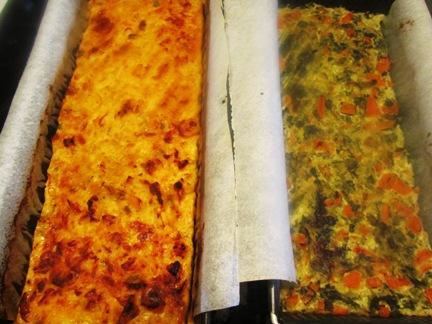 Budín (de verduras y de pescado) Budinhorneado