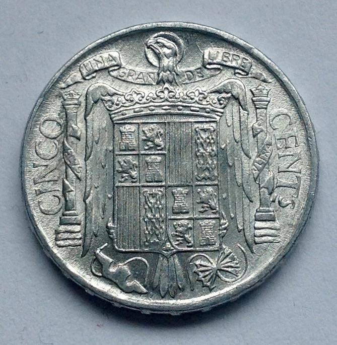 5 céntimos 1953 Estado Español Image