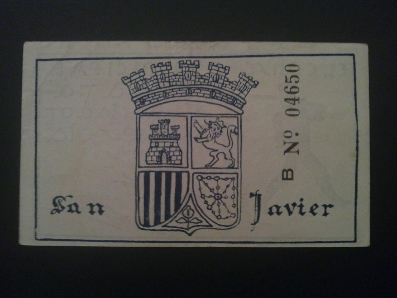 1 Peseta San Javier (Murcia), 1937 31102011317