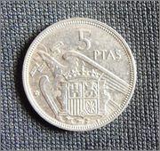 Francisco Franco 5 pesetas - 1957 P3140033