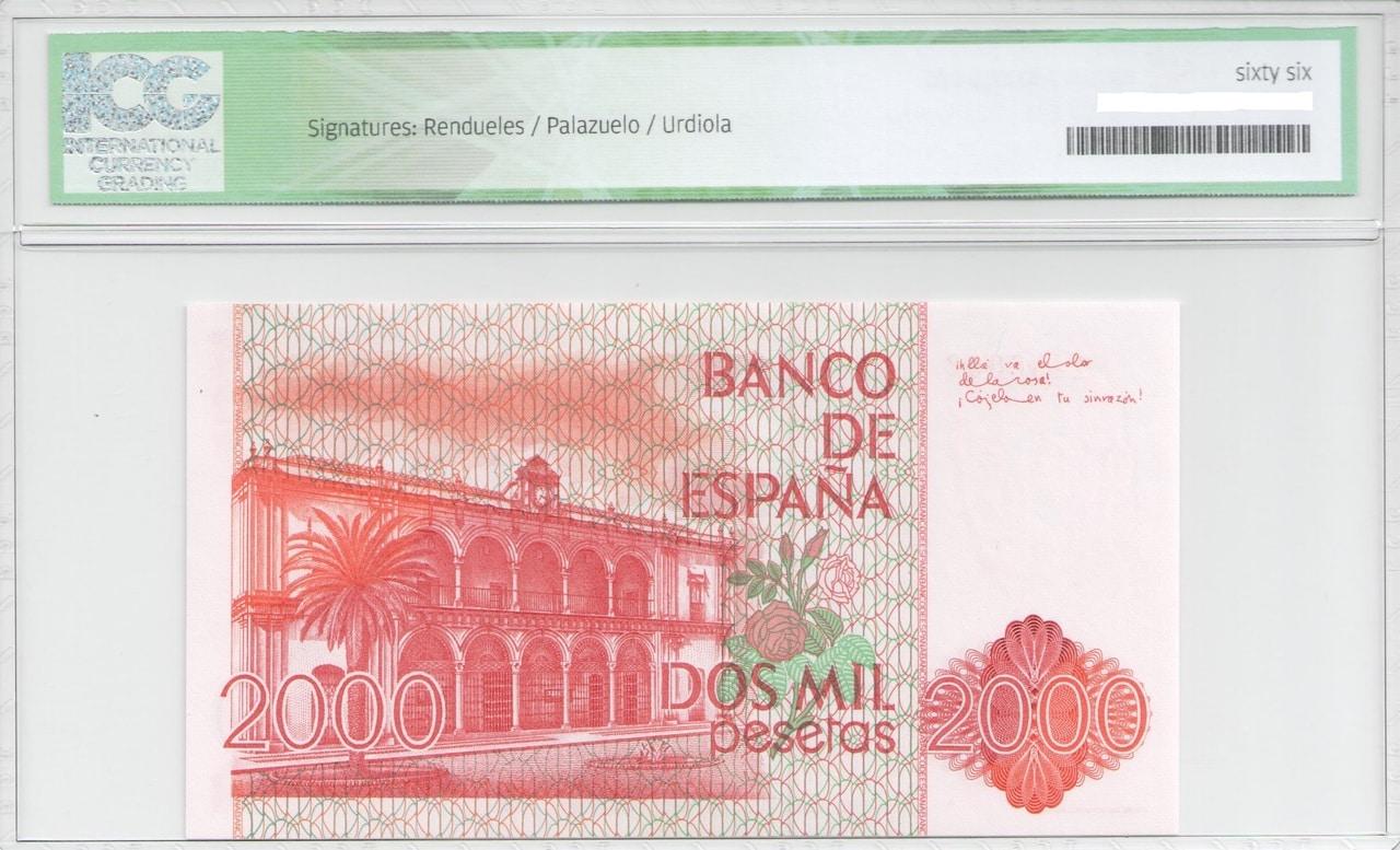 Colección de billetes españoles, sin serie o serie A de Sefcor - Página 2 2000_del_80_reverso