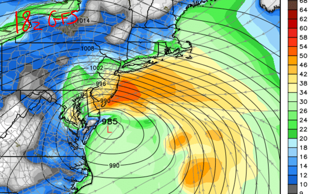 01/22/16 - 01/23/16 Update #2 - Models Not Backing Off 18z_gfs_wind_speed