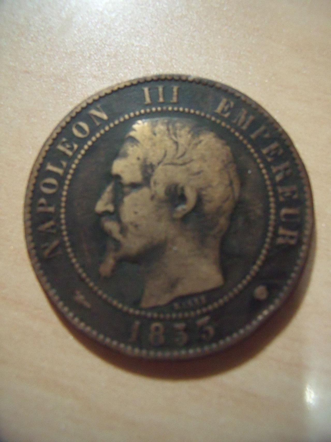 10 Centimes. Francia. 1854. París FRAN_A_011
