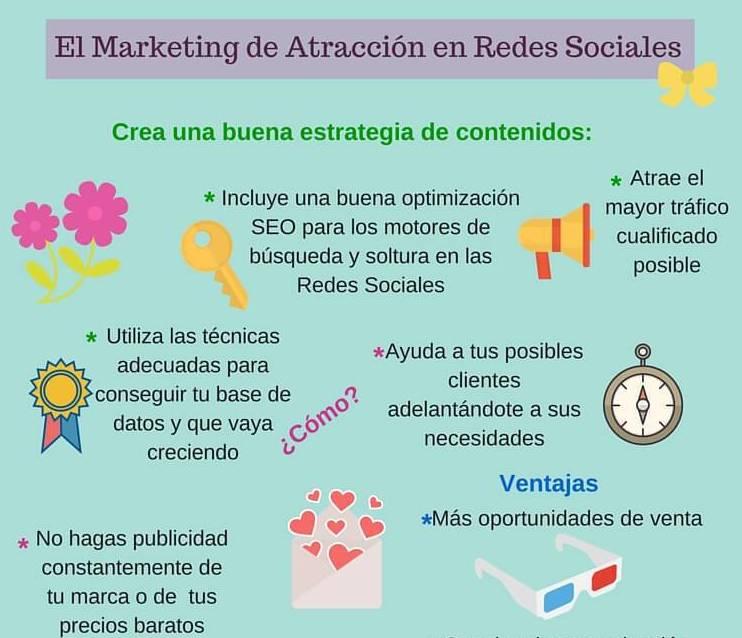 Marketing de atracción en Redes Sociales #infografia  Marketing_de_atraccion_infografia